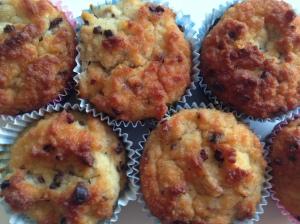 Suikervrije bananen muffins