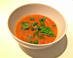 Gegrilde groenten soep