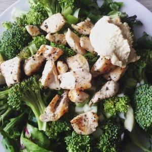 suikervrije broccoli kip venkel hummus