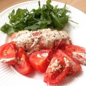 Kabeljauw tomaat rucola